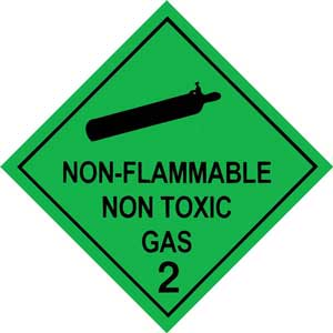 250mm Class 2.2 Non-Flammable Non-Toxic Gases. Adhesive Label