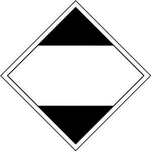 250mm Limited Quantity - Road, Rail & Sea Adhesive Label.  No 'Y' Prefix