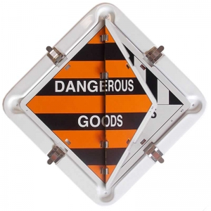 Dangerous Goods Flip Flop Diamond Placard Booklet, 15 Class Panels. Metal