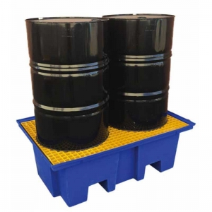 2-Drum Bunded Spill Pallet, up to 230L