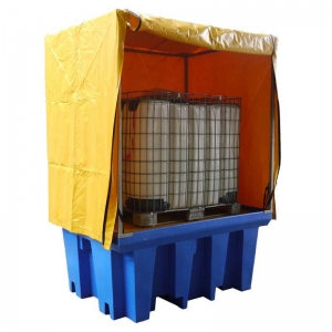 PVC Cover and Galv Steel Frame to Suit Single IBC Spill Containment Pallet - 115