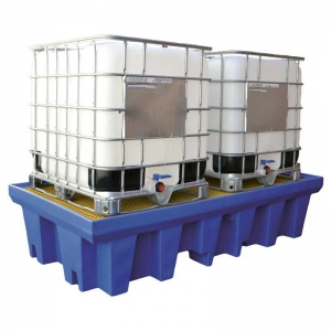 Dual IBC Spill Containment Pallet