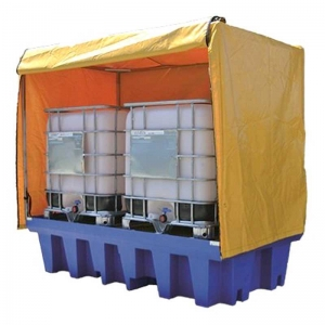 PVC Cover and Galv Steel Frame to suit Dual IBC Spill Containment Pallet