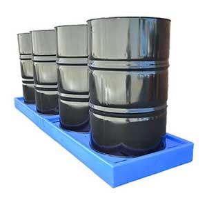 Low Profile Polyethylene 4 Drum Inline Bund