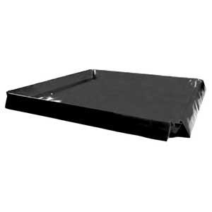 Spill Bund Portable Containment Mat, Heavy Duty Black.  1200mm x 1200mm x 100mmH