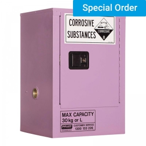 30ltr Corrosive Substance Storage, 1 Door/1 Shelf