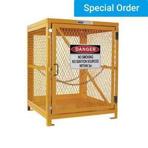 Forklift Gas Cylinder Storage Cage - 4 Forklift Cylinders 1 Level