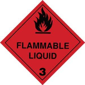 Dangerous Goods Class 3.0 Flammable Liquid