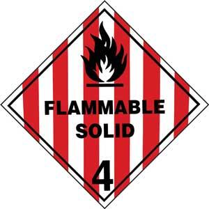 Dangerous Goods Class 4.1 Flammable Solid