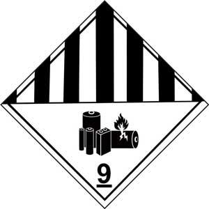 Dangerous Goods Class 9 Lithium Battery
